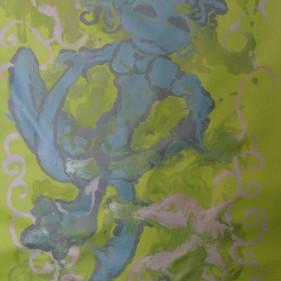 Gesticulation, acrylique sur toile, 80 x 53 cm