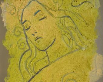 Huile et acrylique sur toile, 61x42cm