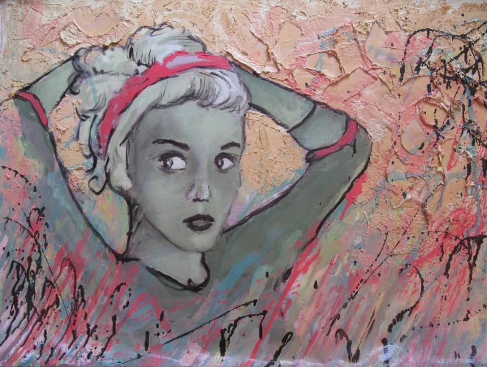 Gretel, 53x79cm, huile sur toile