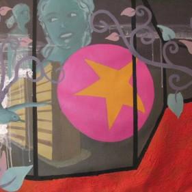 L'étoile rose, acrylique sur toile, 71x108cm