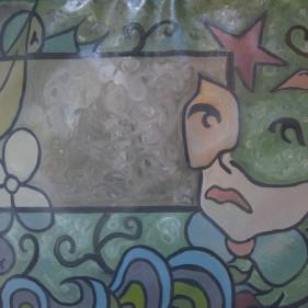 Nuit verte, huile sur toile, 71x98cm