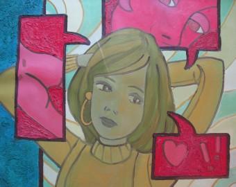 ..., peinture à l'huile, 56x71cm
