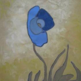fleur  71x52 cm